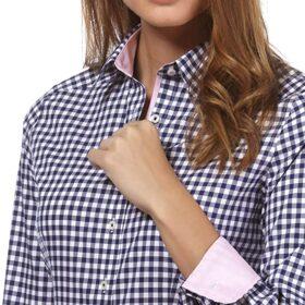 camisa cuadros vichy mujer