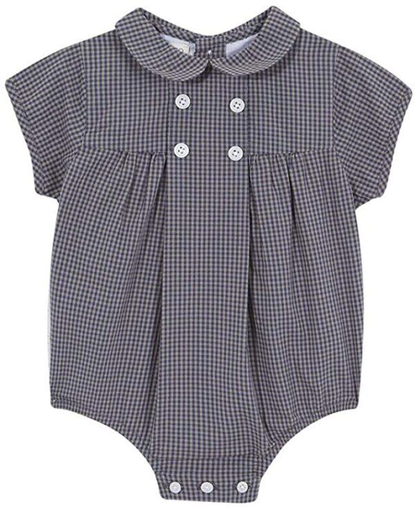 Ranita para bebé cuadros vichy pequeños