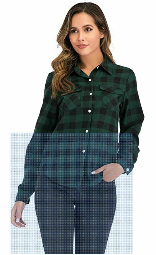 blusa cuadros verde